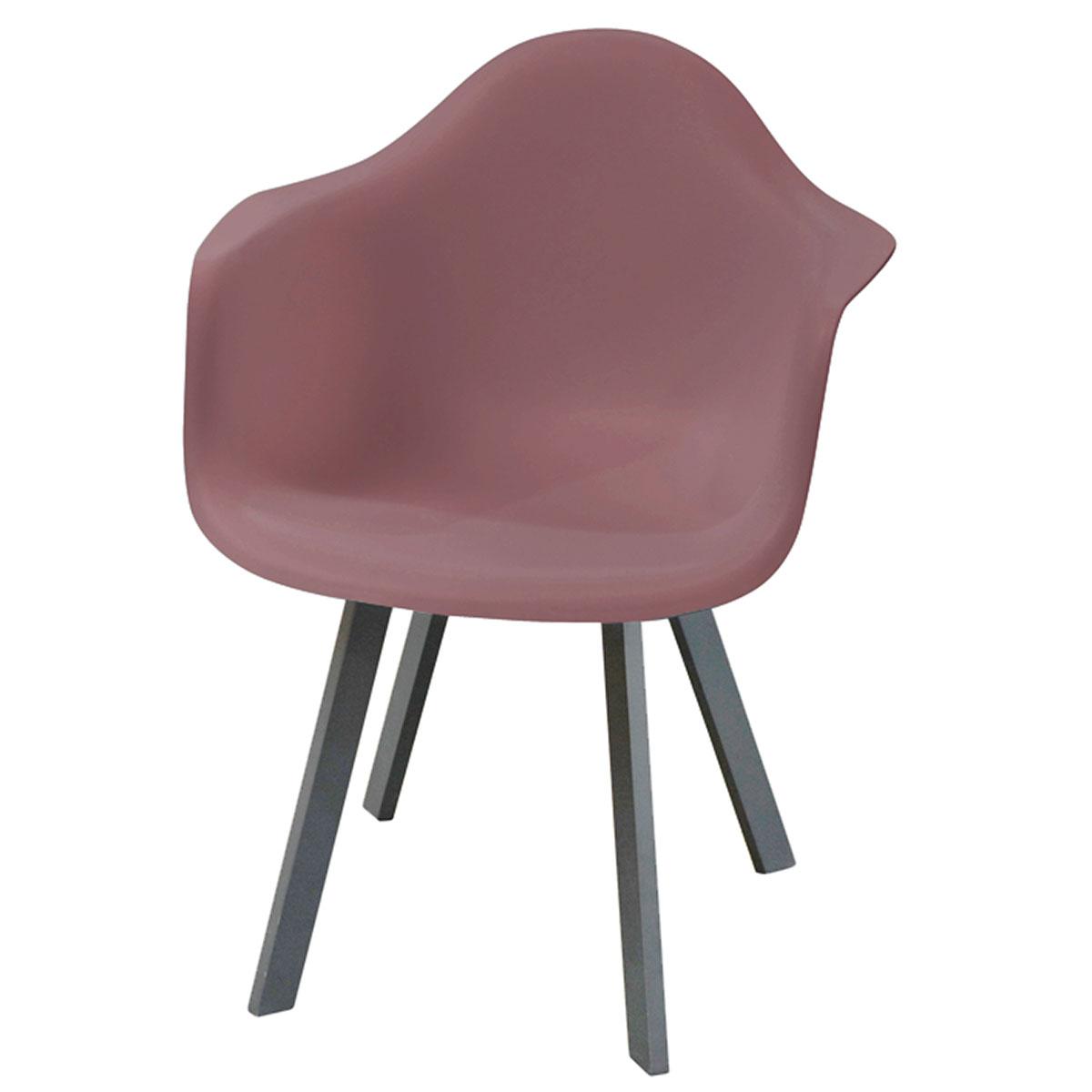 Fauteuil en forme de coque - Rouge - 65 x 63 x 81,5 cm