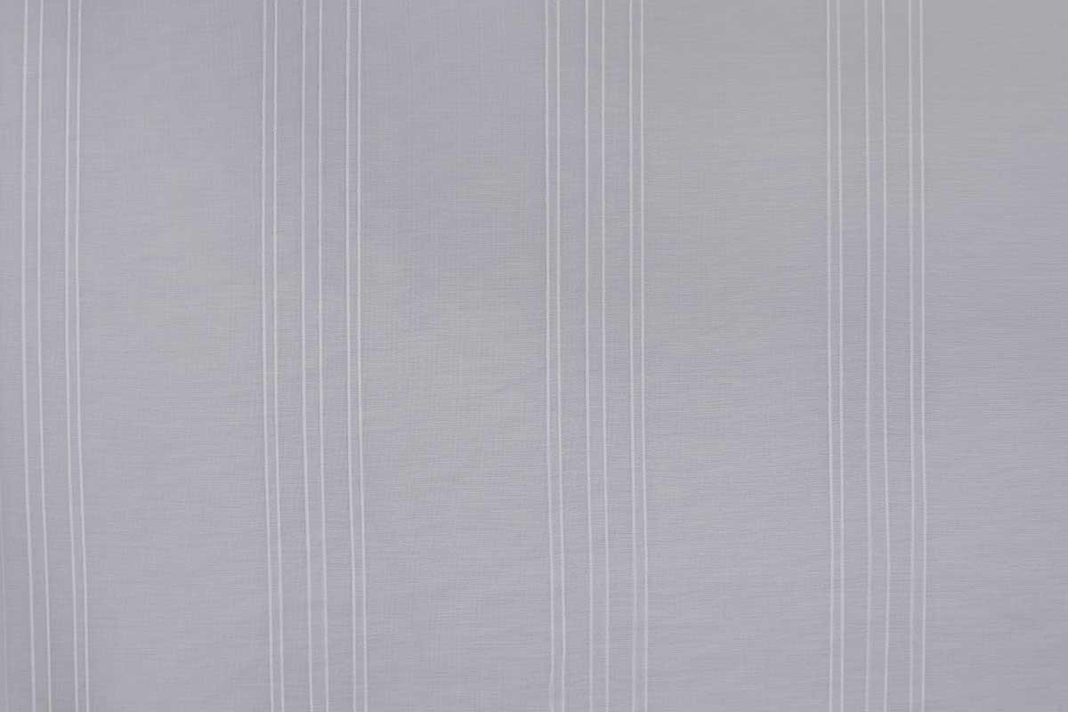 Paire de Vitrages aux Rayures Tons sur Tons - Blanc - 60 x 140 cm