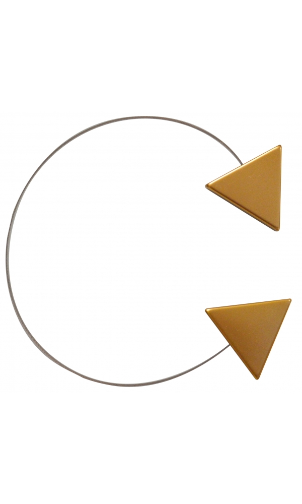 EMBRASSE CABLE TRIANGLE BRONZE 40CM