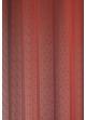 Paire de voilage fileté à fines rayures verticales  Rouge