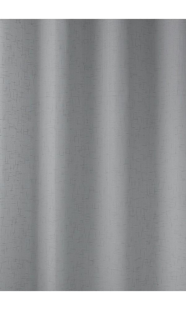 Paire de voilage en étamine unie et fantaisie - Gris - 60 x 130 cm