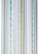 Paire de voilage à rayures verticales design  Bleu