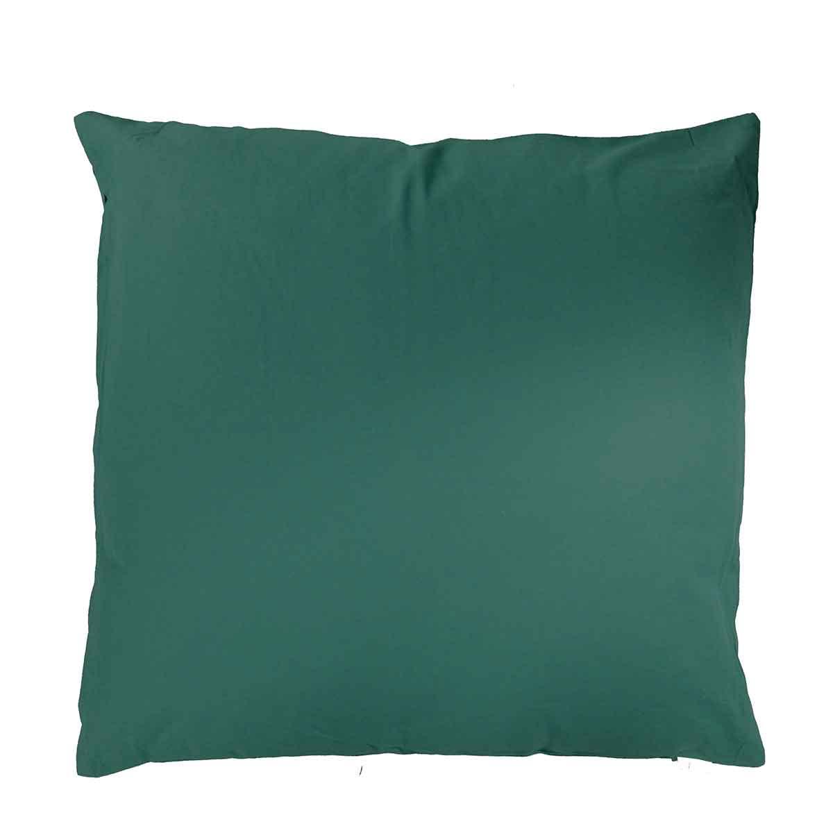 Coussin uni en polyester (vert foncé)