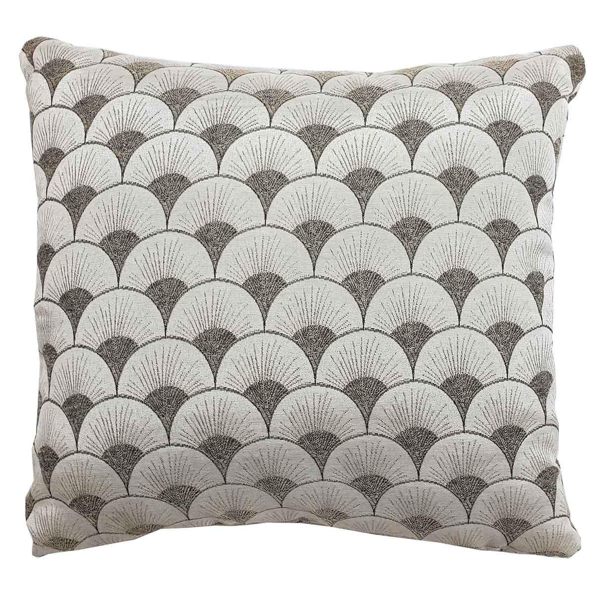 Coussin à motifs géométriques art déco - Beige - 40 x 40 cm