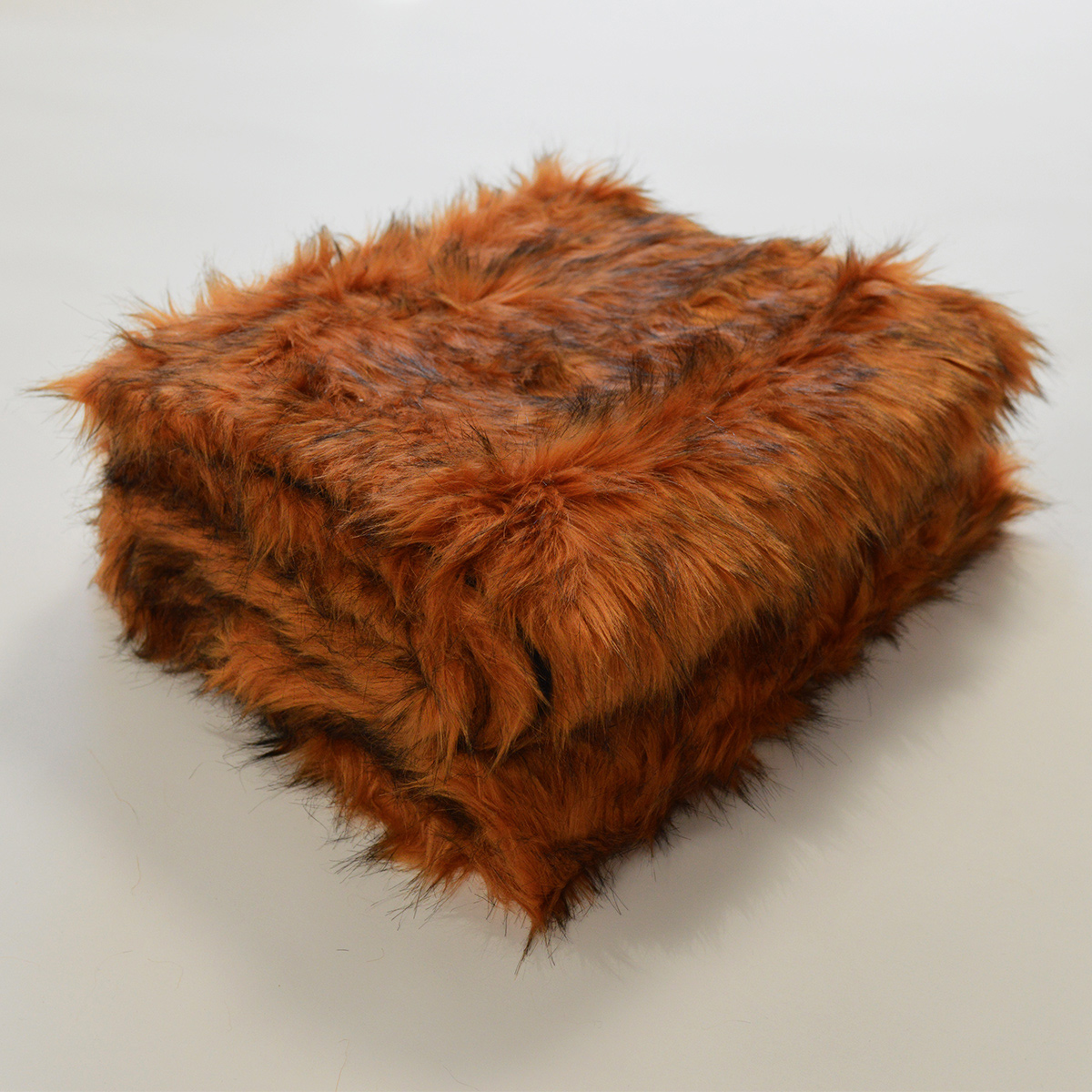 Plaid en fourrure à poils longs - Cuivre - 130 x 170 cm