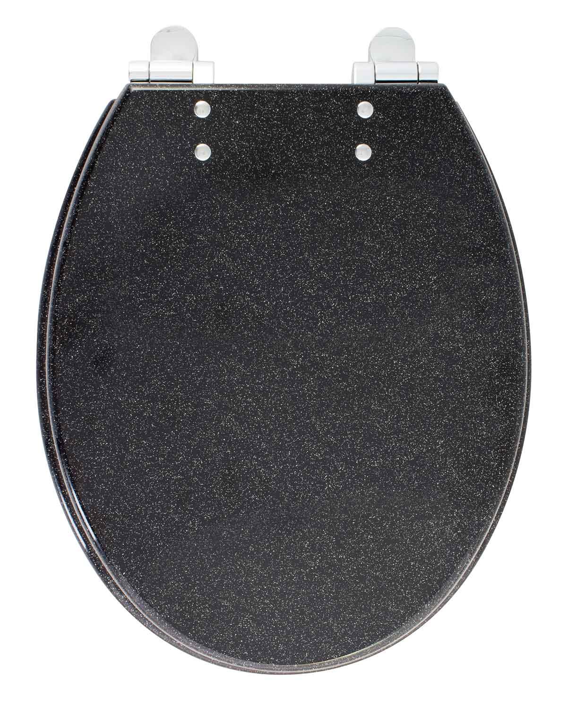 abattant wc effet paillet noir homebain vente en ligne abattants wc. Black Bedroom Furniture Sets. Home Design Ideas