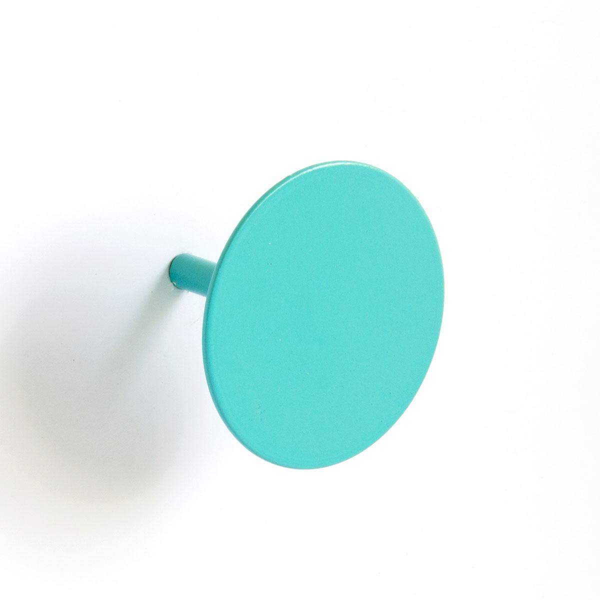 Patère à Fixer Colorée (Turquoise)