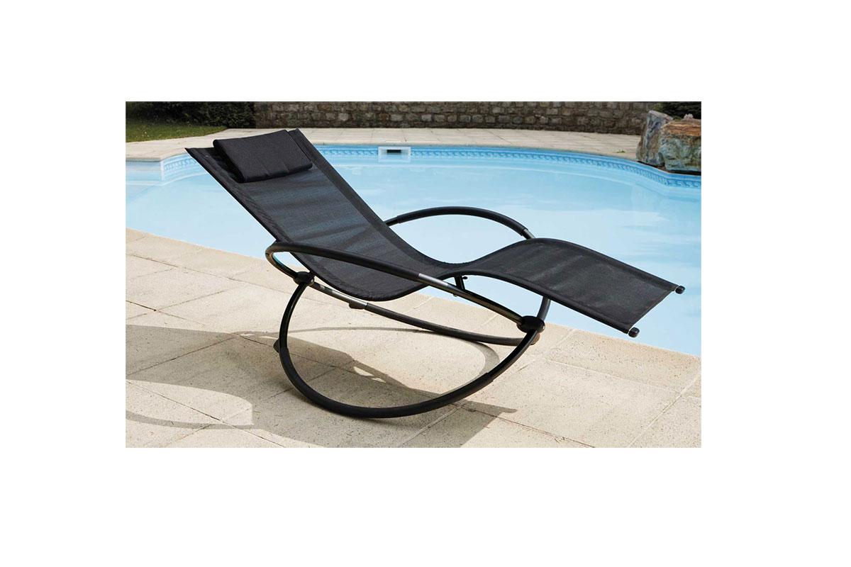 bain de soleil bascule noir menthe rouge. Black Bedroom Furniture Sets. Home Design Ideas