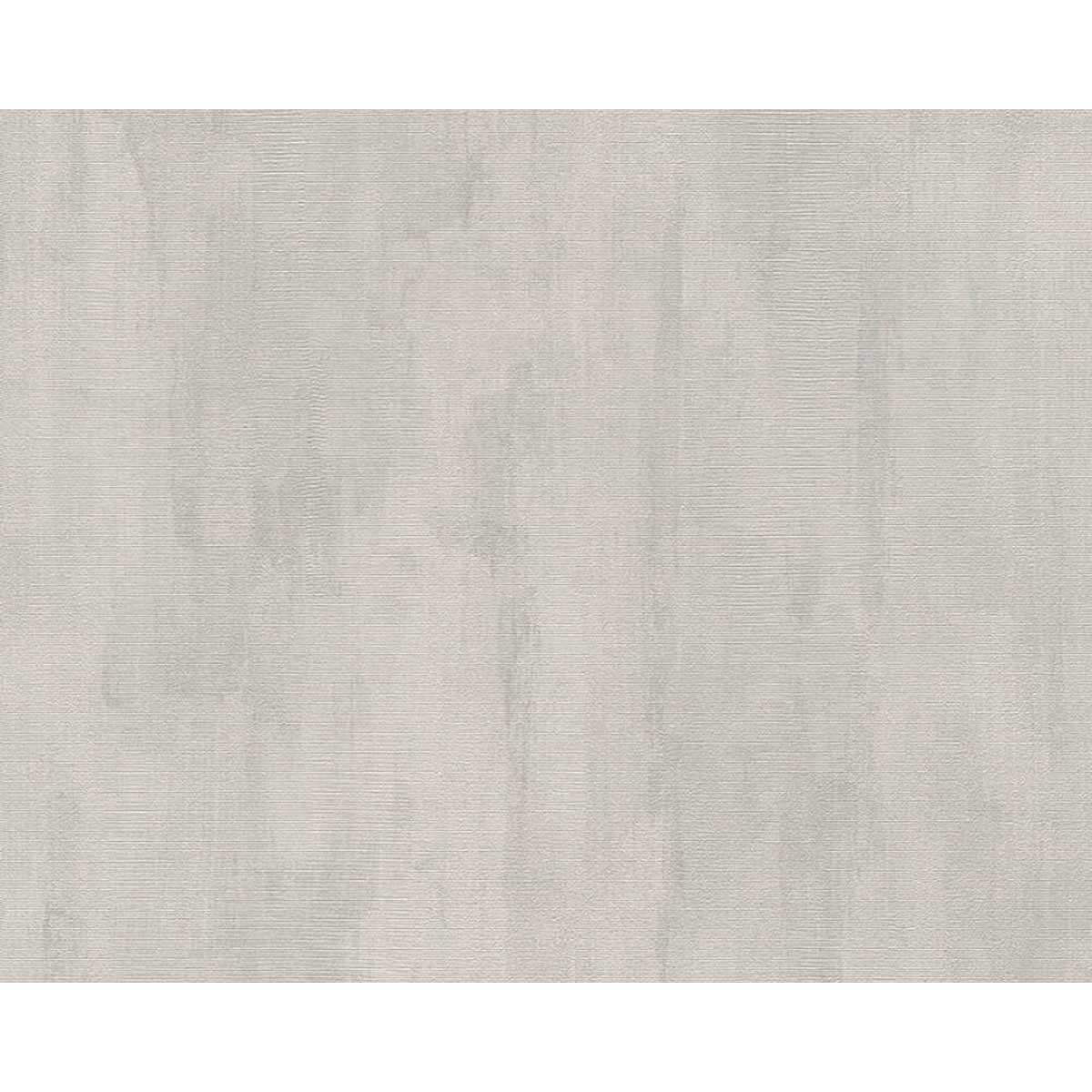 Papier peint uni effet marbré et délavé - Gris - 10 ml x 0,53 m