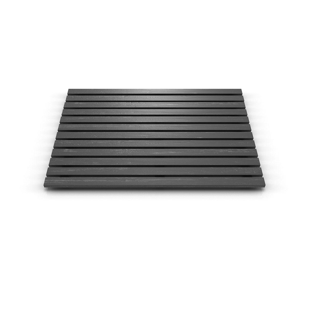 Caillebotis rectangulaire en bois composite (Noir)