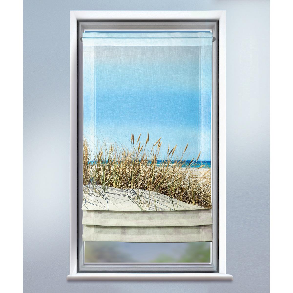 Store bateau imprimé dune - Multicolore - 60 x 120 cm