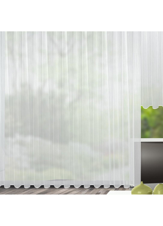 Rideau avec ruban fronçeur et plomb (Blanc)