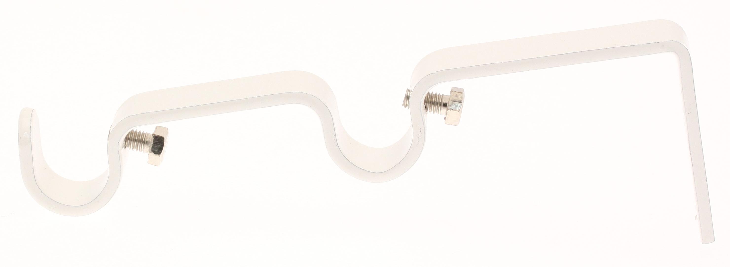 Paire Supports muraux doubles pour barre ø 16mm (Blanc)
