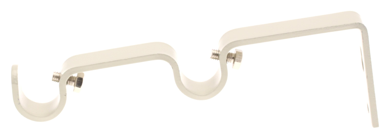Wandhalter Paar für Gardinenstangen ø 16mm (Leinen)