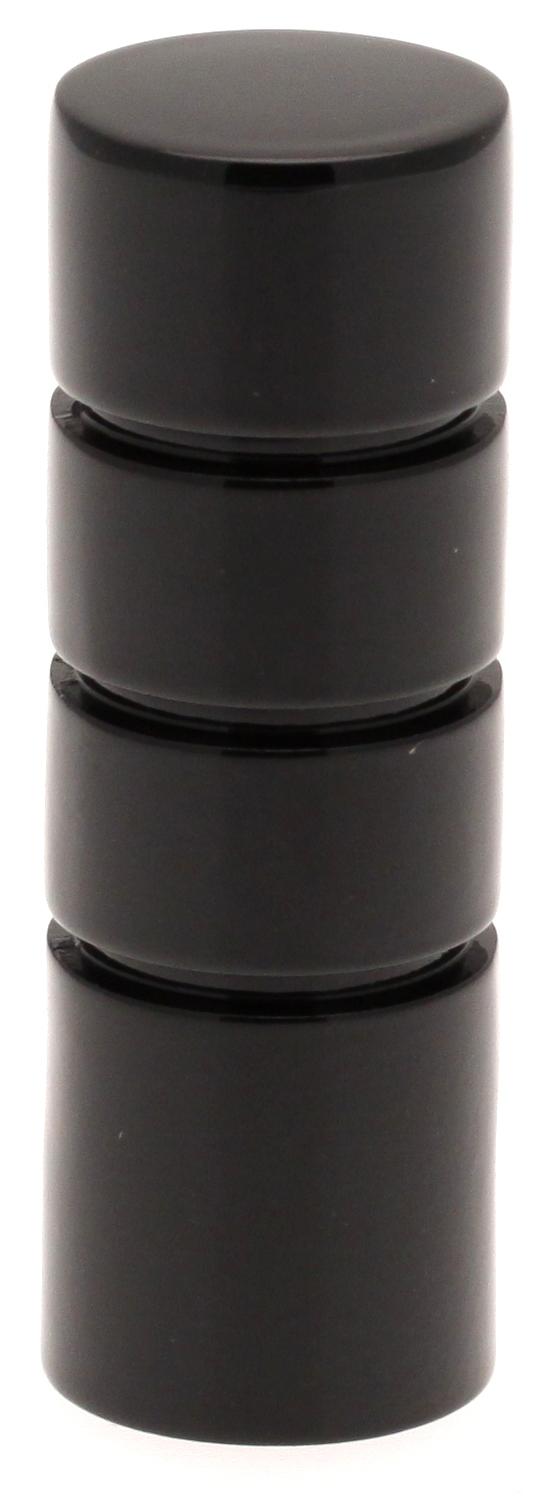 Paire Embouts Cylindre striés pour barre ø 20mm (Noir)