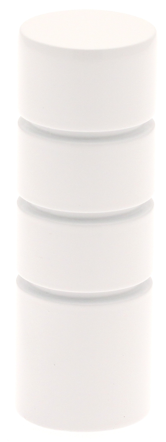 Paire Embouts Cylindre striés pour barre ø 20mm - Blanc - Diam. 20 mm