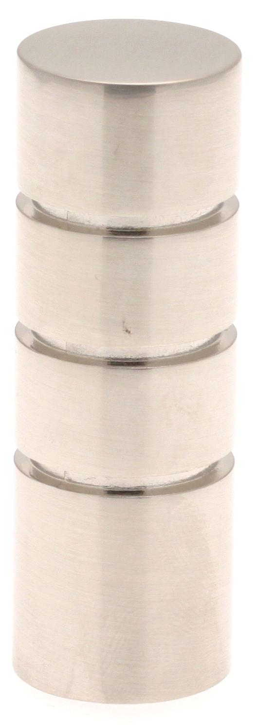 Paire Embouts Cylindre striés pour barre ø 20mm (Chrome Mat)