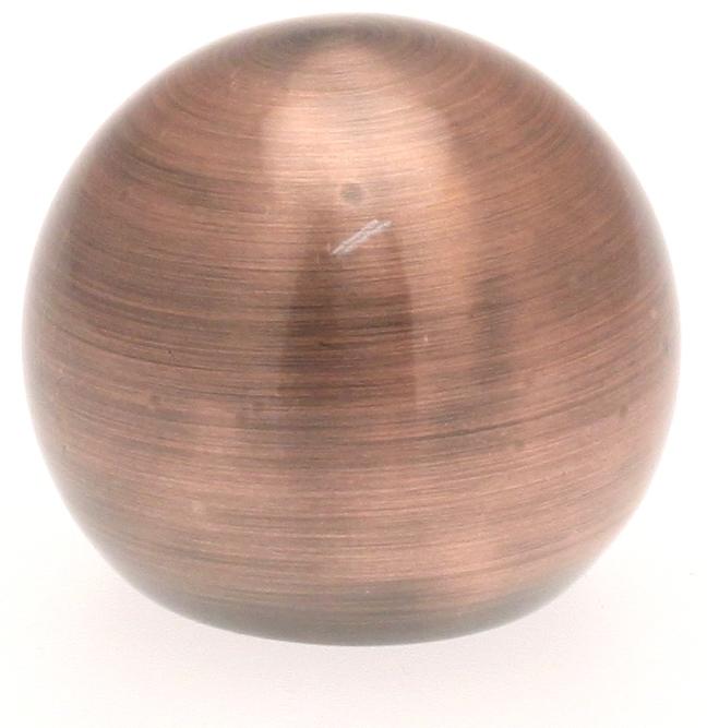 paire embouts boule pour barre 20mm cuivre noir. Black Bedroom Furniture Sets. Home Design Ideas