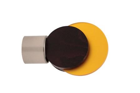 Embout Eclipse Embase Métal diamètre 28 mm (Wengé/Orange)