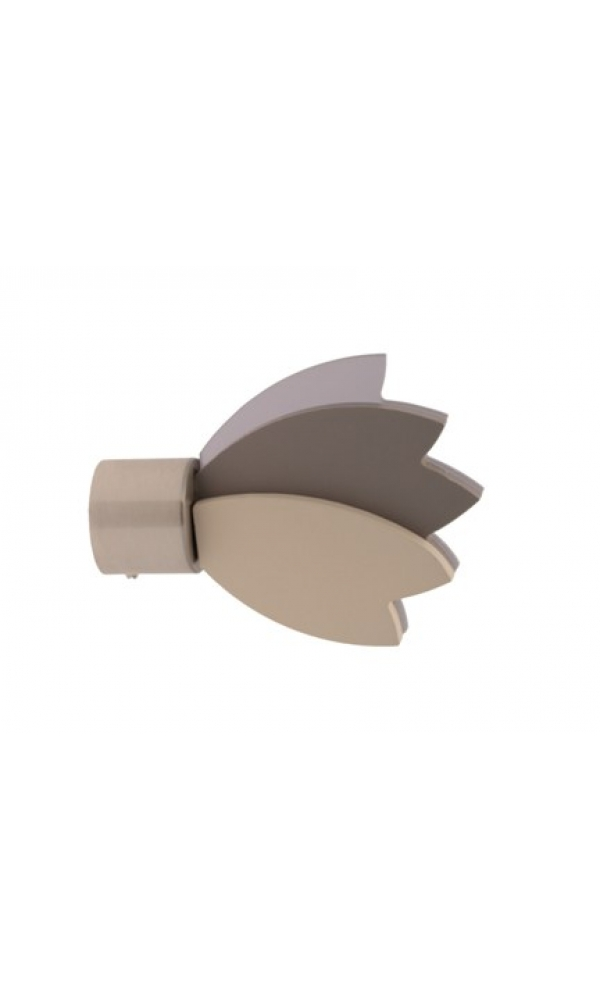 Embout Lotus ø 28mm Taupe (Taupe)