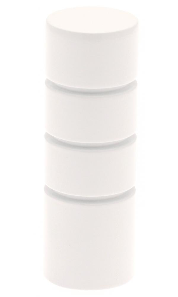 Paire Embouts Cylindre striés pour barre ø 20mm (Blanc)