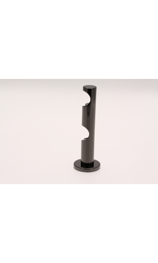 Paire de Supports mural Tige Double pour barre ø 20mm (Nickel Noir)