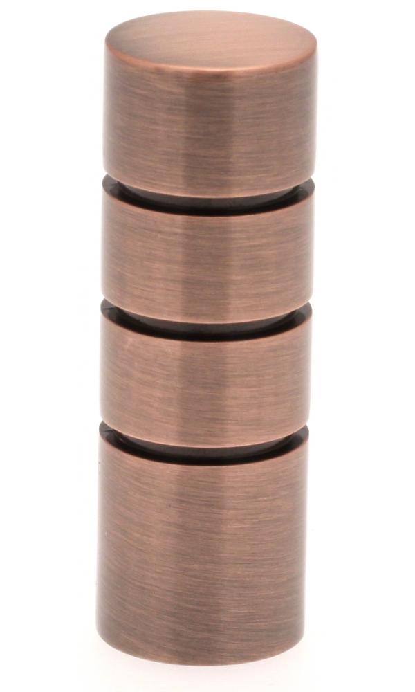 Paire Embouts Cylindre striés pour barre ø 20mm (Cuivre)