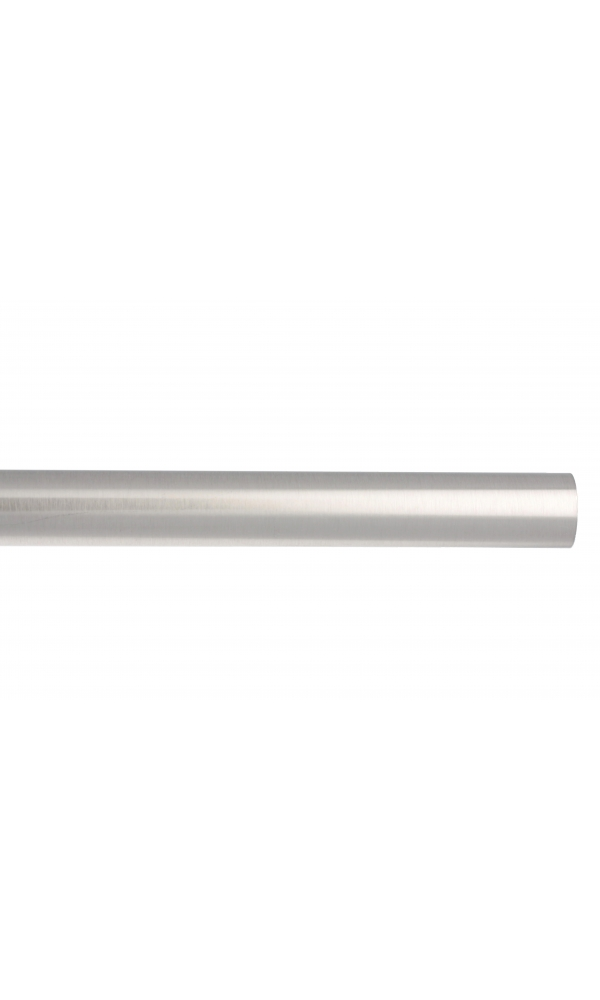 Barre à rideaux en métal ø 20 mm (Chrome Mat)