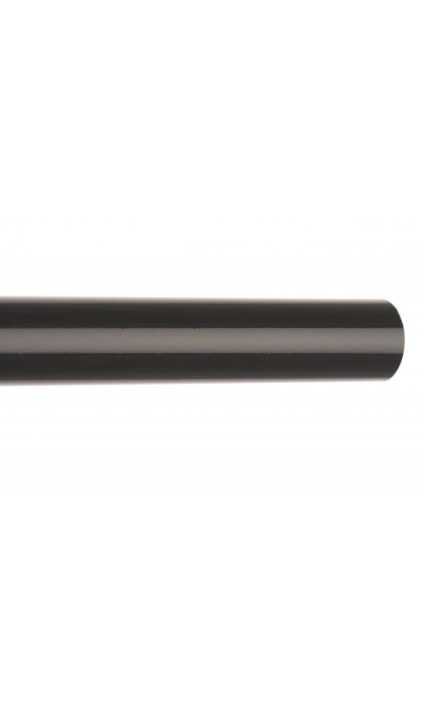 Barre à rideaux en métal ø 20 mm (Noir)