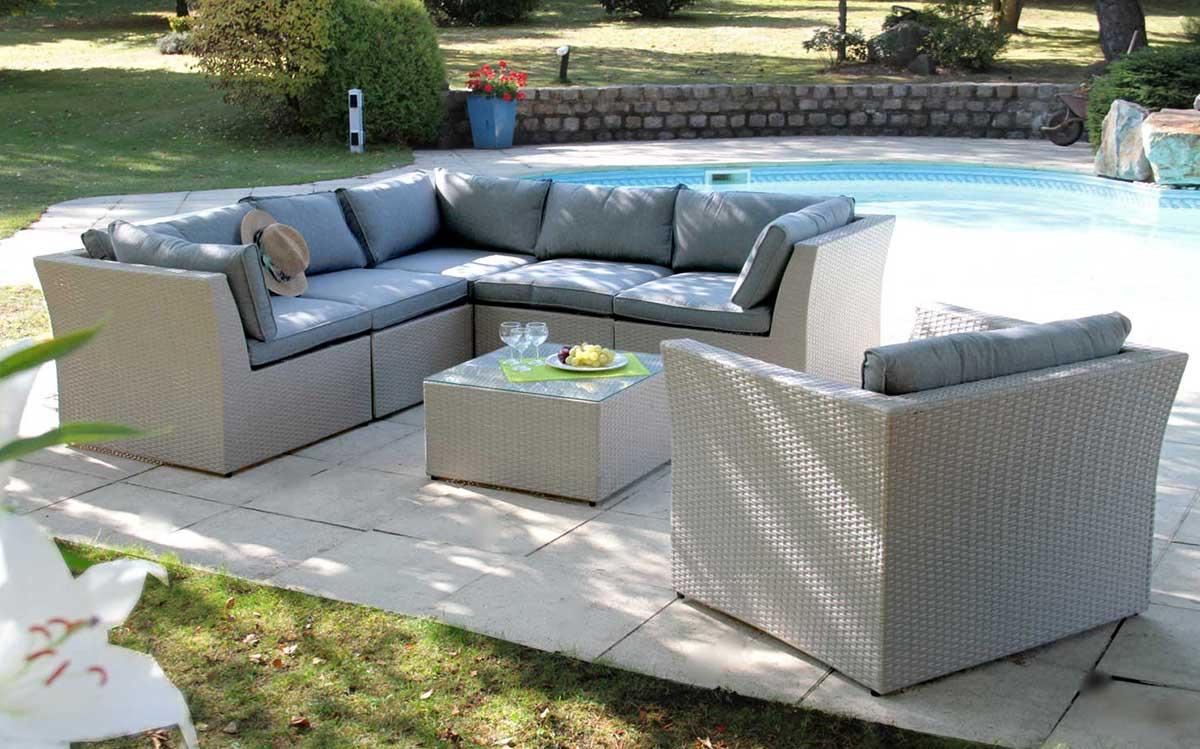 salon de jardin modulable gris homemaison vente en ligne salons de jardin. Black Bedroom Furniture Sets. Home Design Ideas