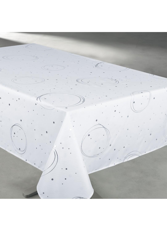 Nappe rectangulaire enduite anti-taches (Blanc)