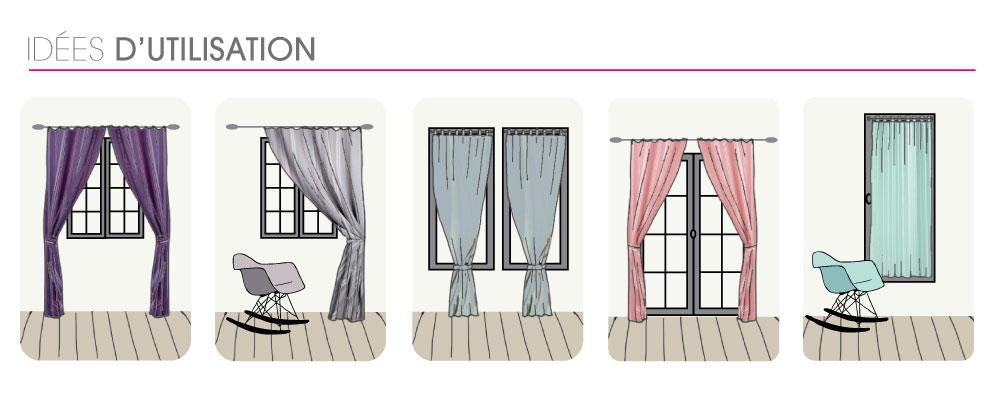 comment bien utiliser mes accessoires rideaux. Black Bedroom Furniture Sets. Home Design Ideas