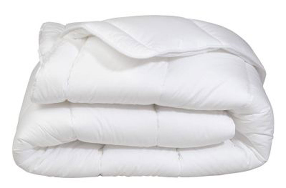 Couette Mi-Saison Enveloppe Coton Protection - Blanc - 200 x 200 cm