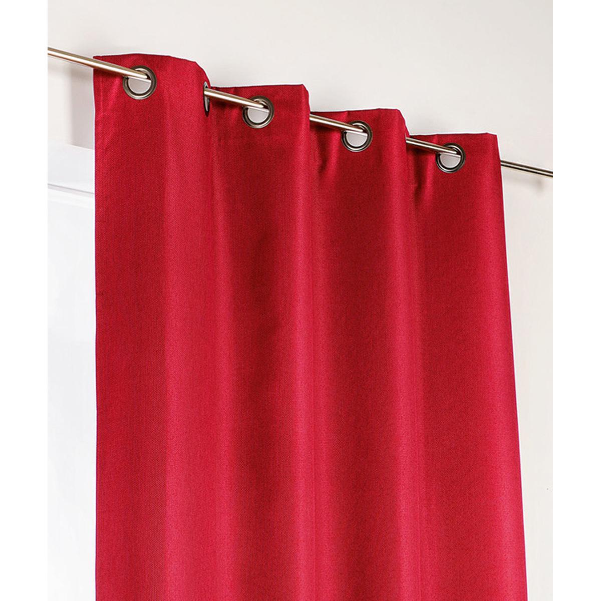 Rideau d'ameublement 100% occultant - Rouge - 140 x 240 cm