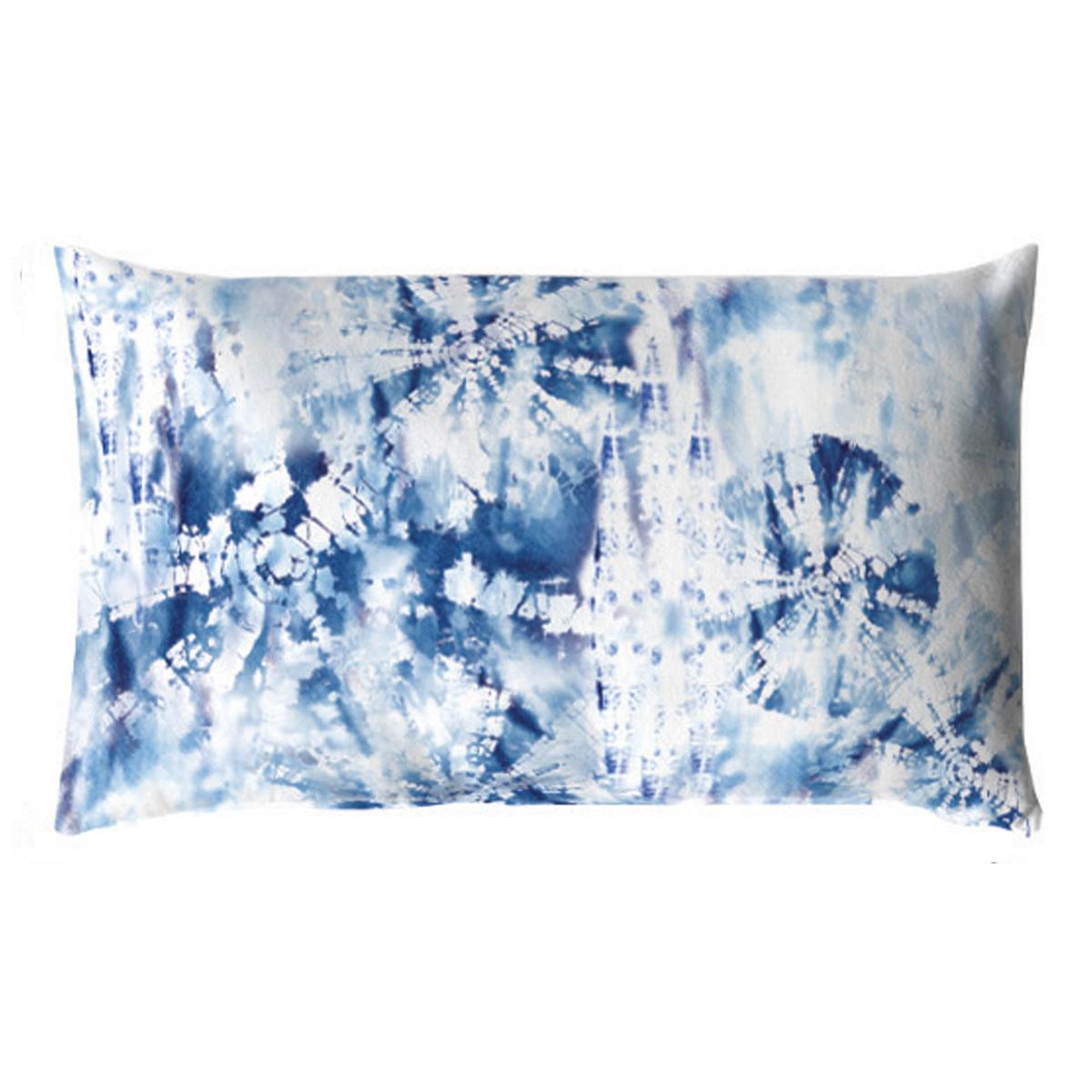 Coussin déhoussable Tye & Dye (Bleu)