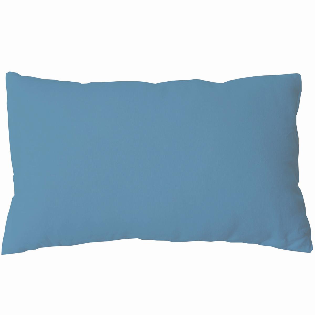 Coussin non déhoussable en coton uni  (Aqua)