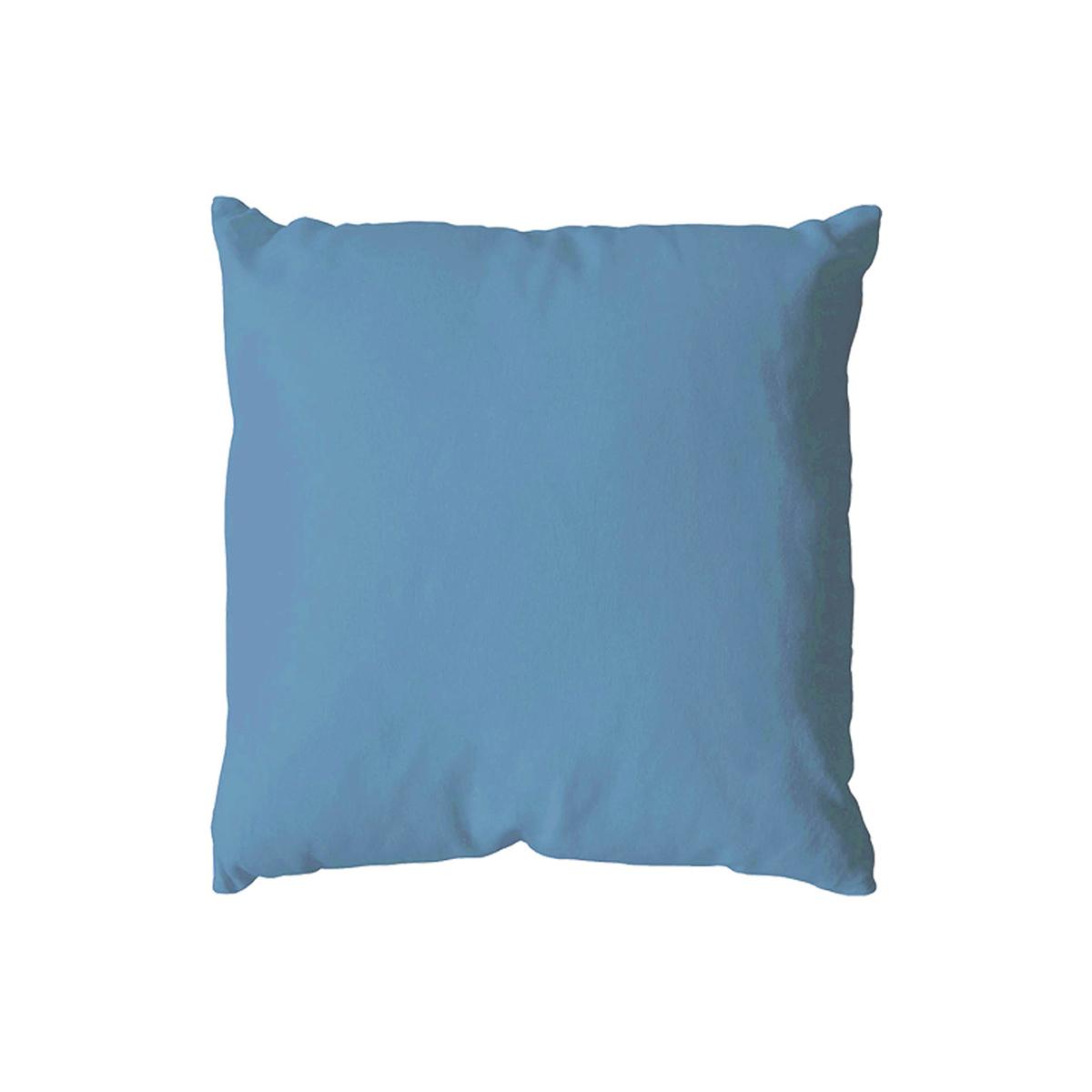Coussin déhoussable uni en coton   (Aqua)
