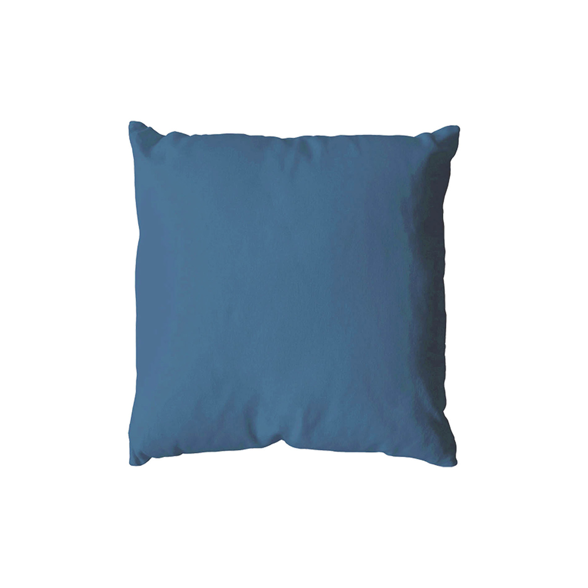 Coussin déhoussable uni en coton   (Bleu sud)