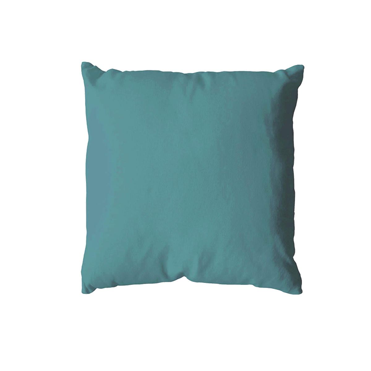 Coussin uni en polyester (Lagon)