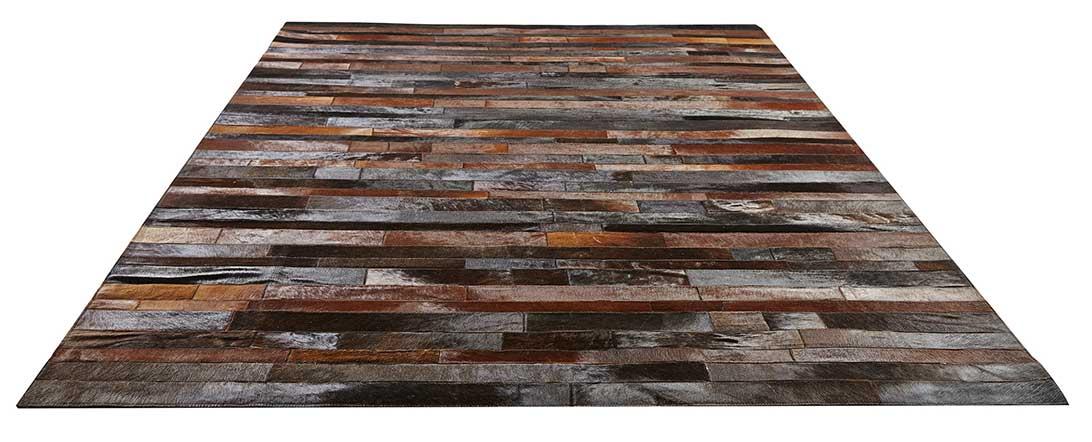tapis patchwork en cuir v ritable chocolat gris homemaison vente en ligne tapis d co. Black Bedroom Furniture Sets. Home Design Ideas