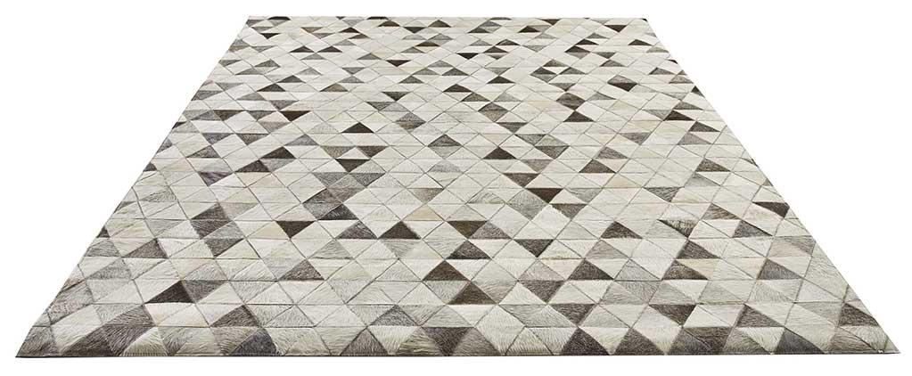 Tapis Patchwork à Motifs Triangulaires (Gris)