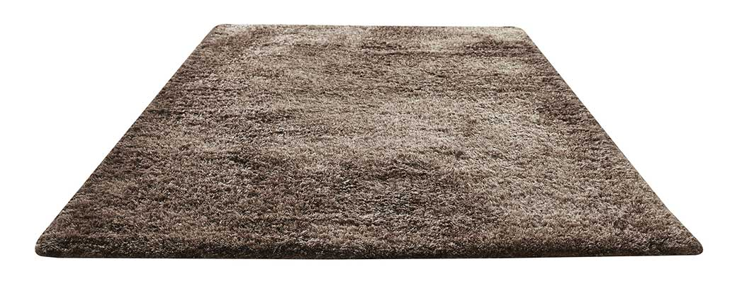 tapis uni grandes mches taupe - Tapis Taupe