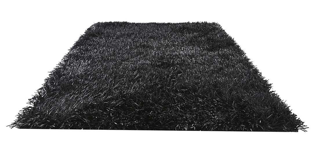 Tapis à Longues Mèches - Noir - 170 x 230 cm