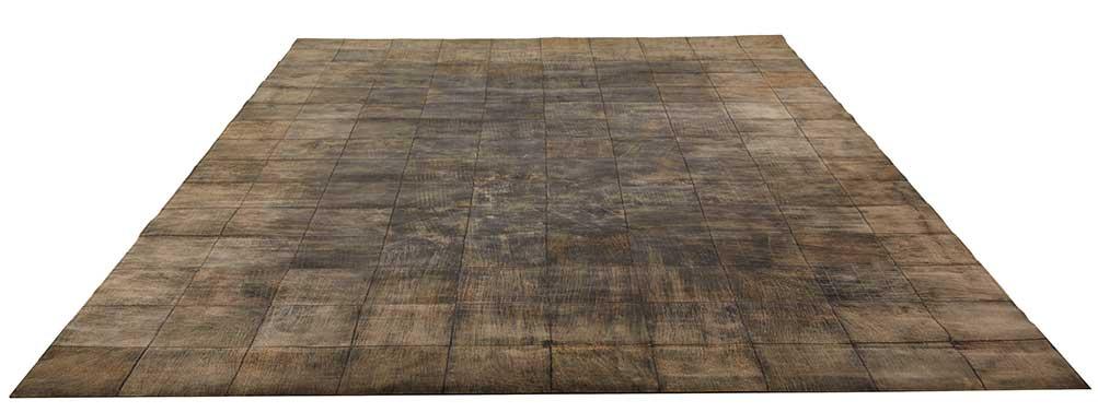 Tapis en Cuir Effet Usé - Gris - 170 x 230 cm