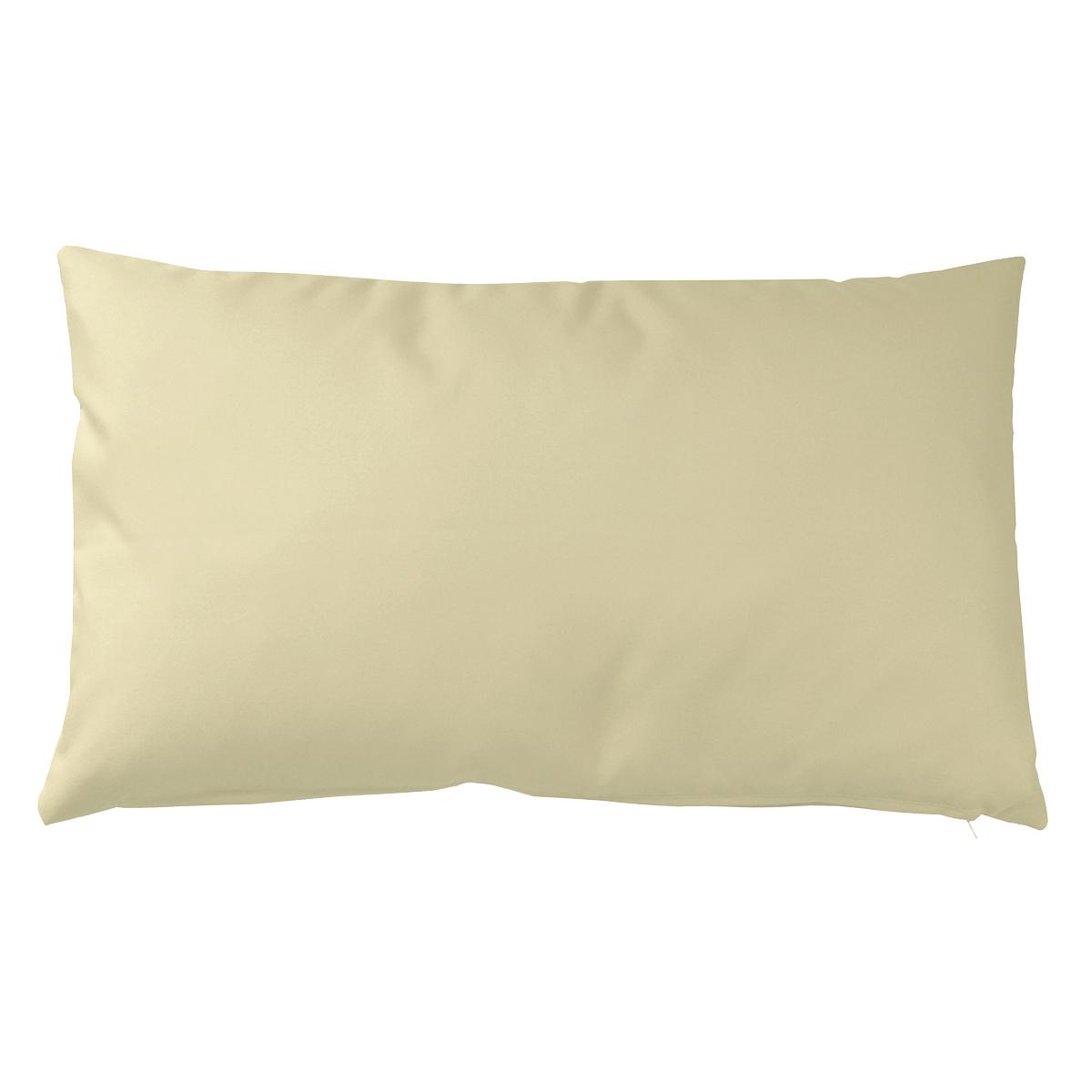 Housse de coussin d'extérieur en tissu outdoor - Ecru - 30 x 50 cm