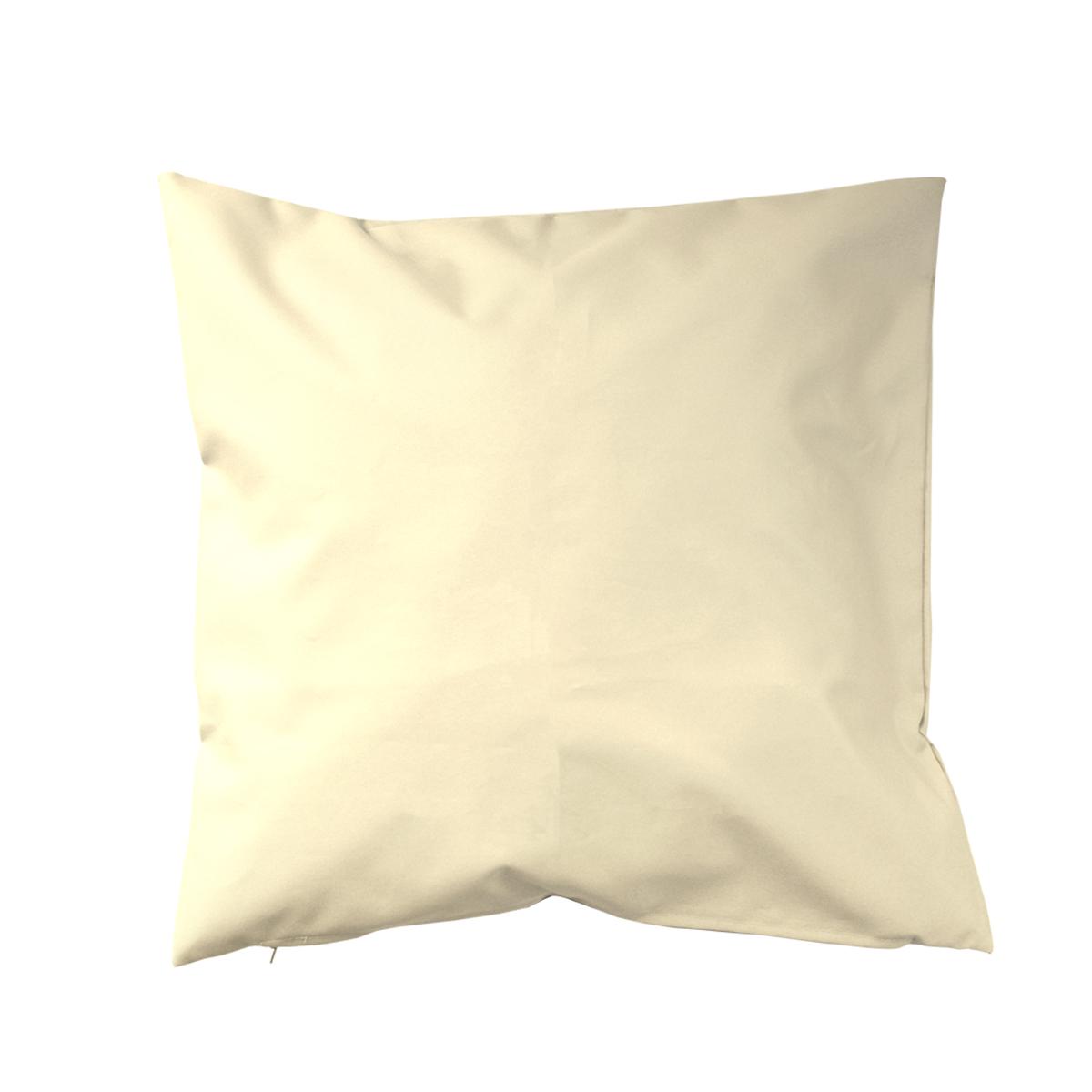 Housse de coussin d'extérieur en tissu outdoor - Ecru - 45 x 45cm