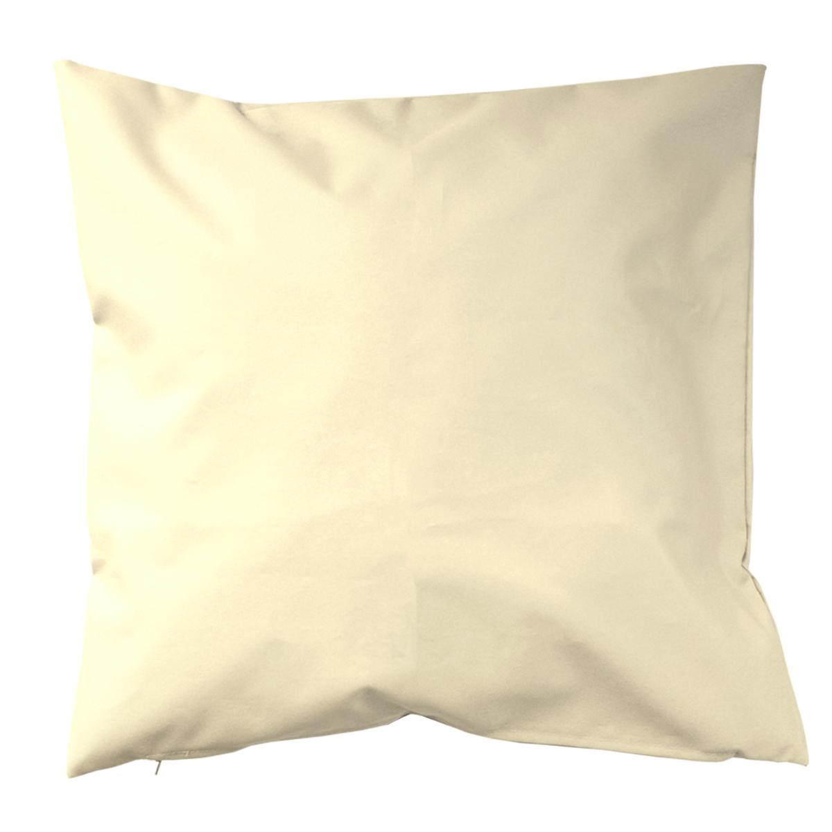 Housse de coussin d'extérieur en tissu outdoor - Ecru - 60 x 60cm