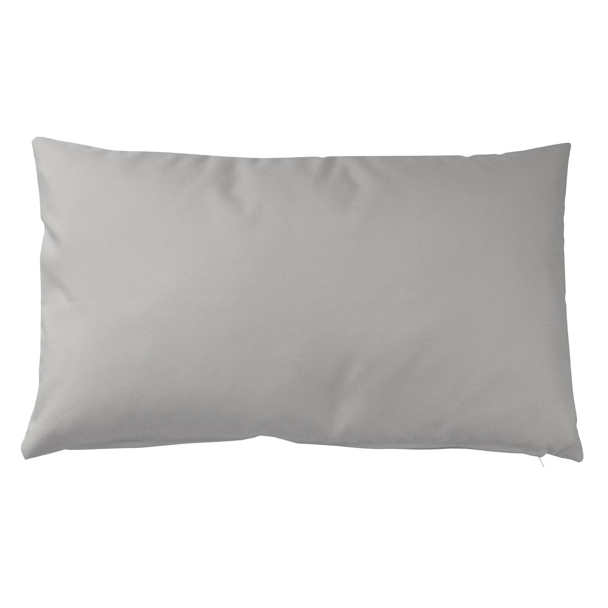 Housse de coussin d'extérieur en tissu outdoor - Gris - 30 x 50 cm
