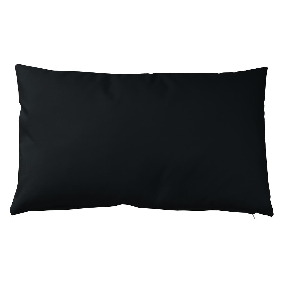 Housse de coussin d'extérieur en tissu outdoor - Noir - 30 x 50 cm