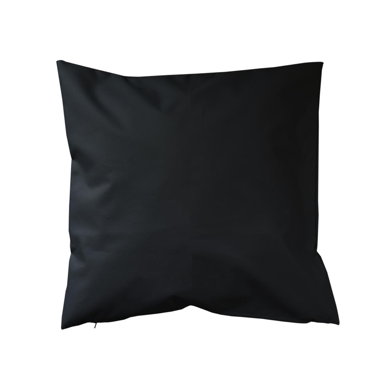 Housse de coussin d'extérieur en tissu outdoor - Noir - 45 x 45cm